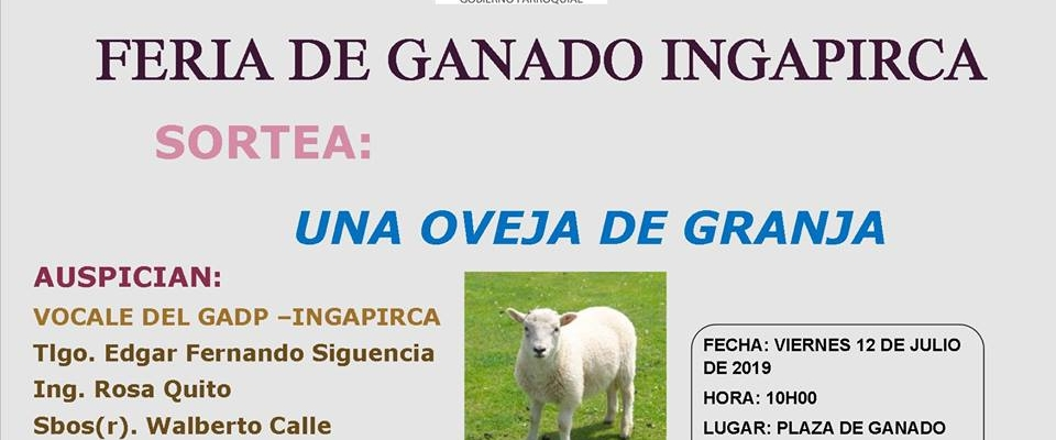 FERIA GANADERA DE INGAPIRCA 2019.